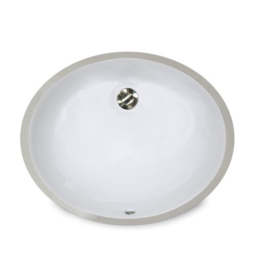 Oval Undercounter Bathroom Sink with Overflow