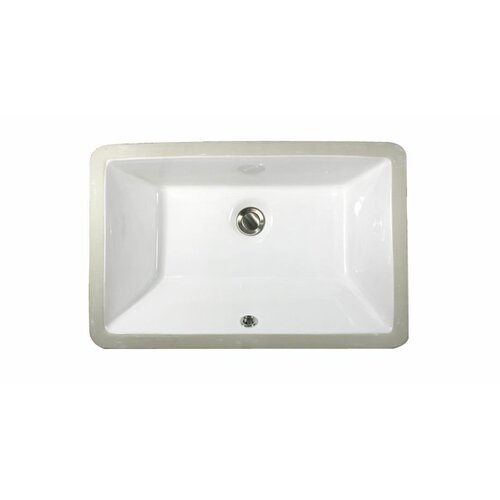 Rectangular Bathroom Sinks Undermount : Nantucket Sinks Rectangular Ceramic Undermount Bathroom Sink & Reviews ...