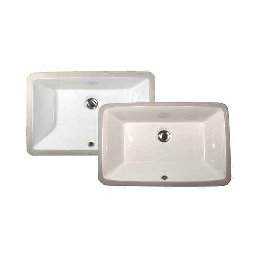 Rectangular Sink : Nantucket Sinks Rectangular Ceramic Undermount Bathroom Sink & Reviews ...