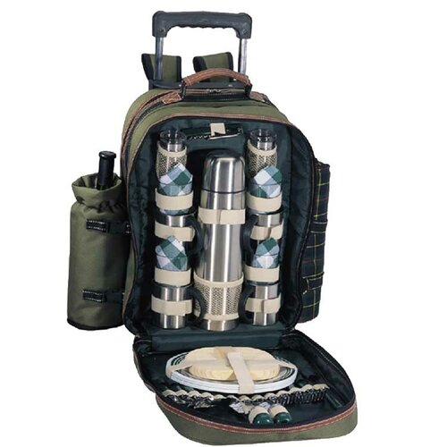 Sutherland Baskets Java Mountain Picnic Trolley in Green