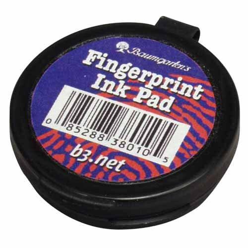 "Baumgartens Finger Print Pad, 1-5/8""x1-5/8""x1/2"", Black"