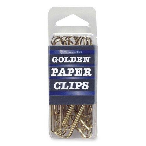 Baumgartens Paper Clips, Jumbo, No. 2, 40 per Box, Gold