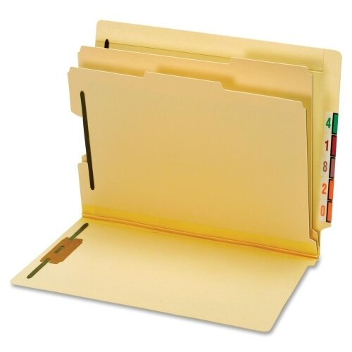 Globe Weis End Tab Classification Folder (10 Per Box)