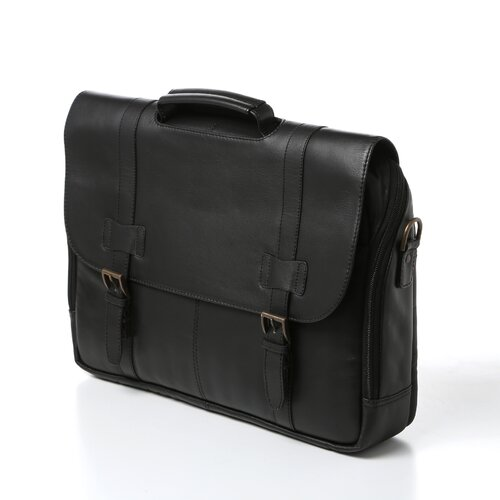 Winn International Traditional Leather Laptop Briefcase