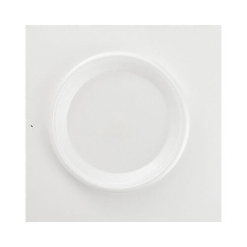 Boardwalk Non-Laminated Foam Plate in White