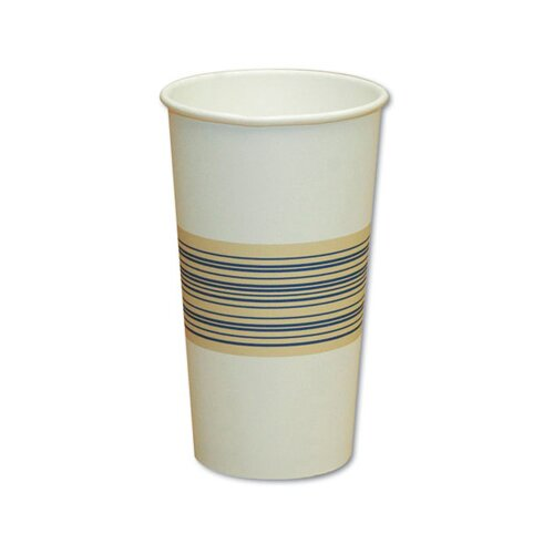 Boardwalk 20 oz Paper Hot Cup in Blue and Tan