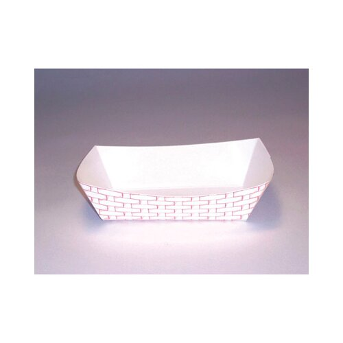 Boardwalk 2.5 lbs Paper Food Basket in Red and White