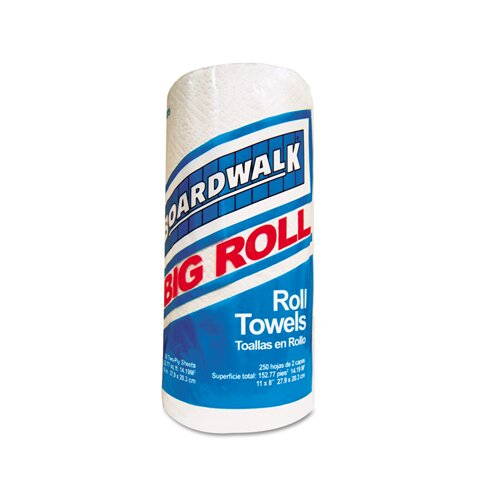 Boardwalk Perforated 2-Ply Paper Towels - 250 Sheets per Roll