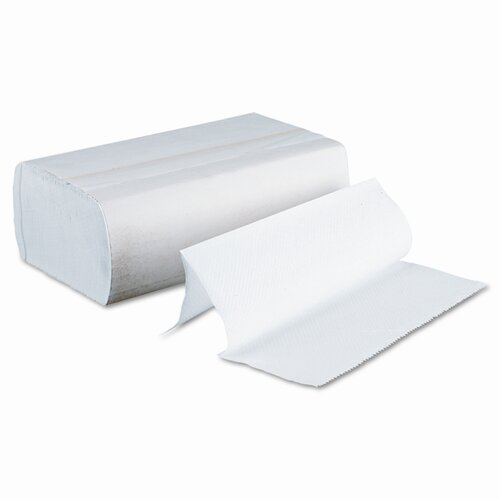 Boardwalk Multifold 1-Ply Paper Towels - 250 Towels per Box / 16 Boxes