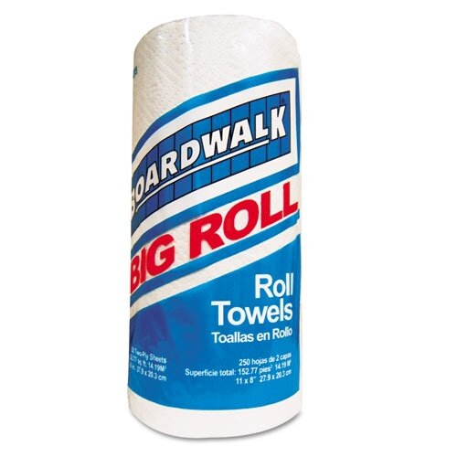 Boardwalk 2-Ply Paper Towels - 250 Sheets per Roll / 12 Rolls