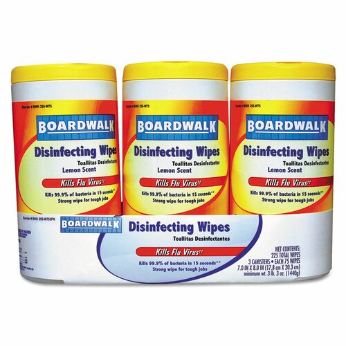 Boardwalk Lemon Disinfecting Wipes