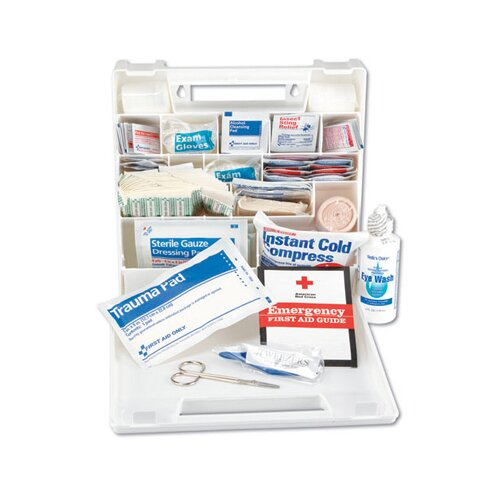 Impact First Aid Kit for 50 People, 194 Pieces, Plastic Case