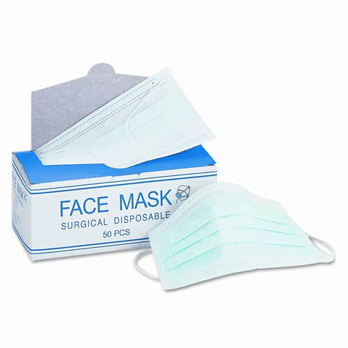 Impact Face Mask, Elastic Ear Loop, 50 Face Masks/Box