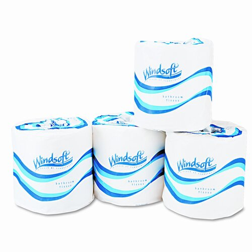 Windsoft 1-Ply Toilet Paper - 1000 Sheets per Roll / 96 Rolls