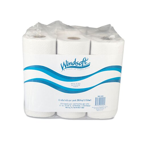 Windsoft Paper Towel Roll in White