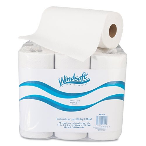 Windsoft 2-Ply Paper Towel - 72 Sheets per Roll / 6 Rolls