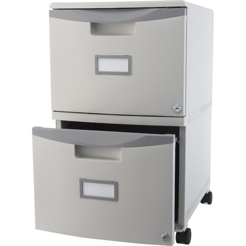 Storex 2-Drawer Mobile Filing Cabinet