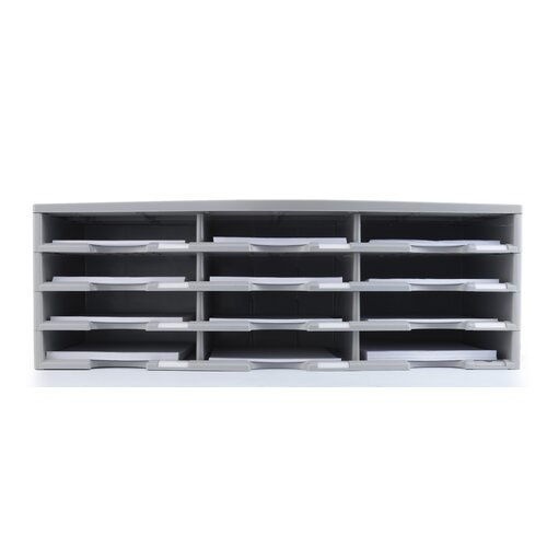 Storex 12 Compartment Literature Organizer