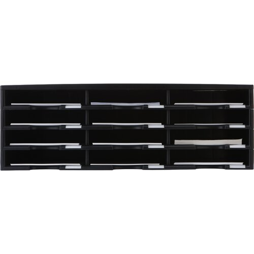 Storex 12 Compartment Literature Organizer