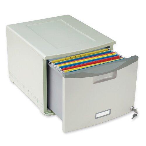 Storex 1 Drawer File Cabinet