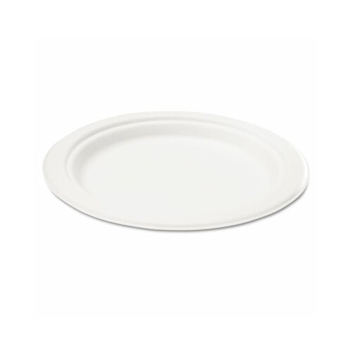 "Savannah Supplies Inc. Naturehouse Bagasse 10"" Plate, 125/Pack"
