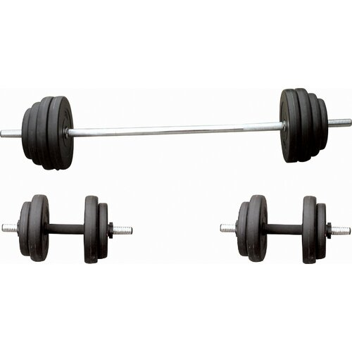 Sunny Health & Fitness 100 lbs Barbell / Dumbbell Set