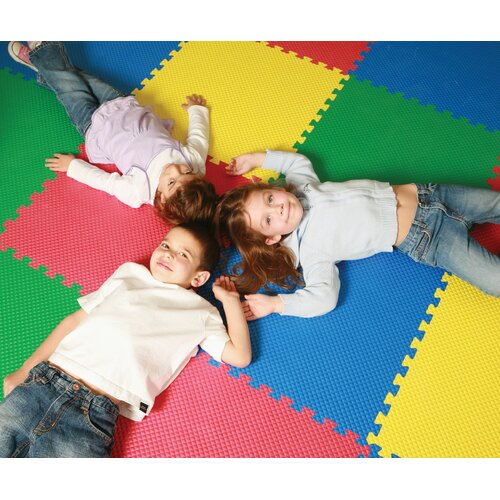 Norsk Floor Recyclamat Reversible Foam Mats in Multi-color (Pack of 4)
