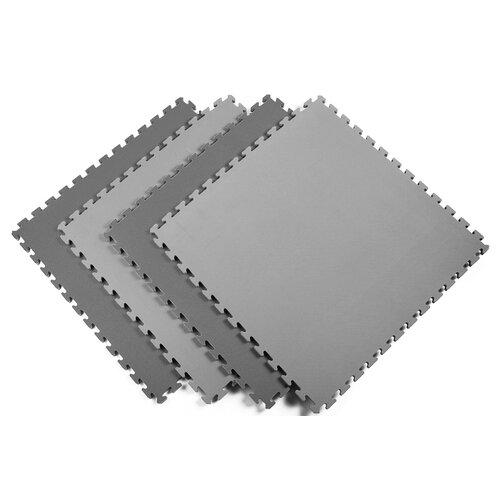 Norsk Floor Reversible Sport Foam Mats in Black / Gray (Pack of 4)