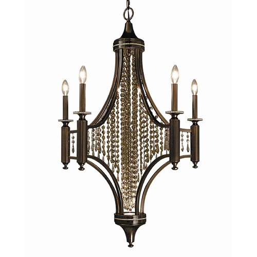 Framburg Waterfall 5 Light Dining Chandelier