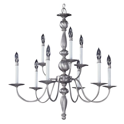 Framburg Early American 9 Light Dining Chandelier