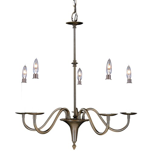 Framburg Early American 5 Light Dining Chandelier