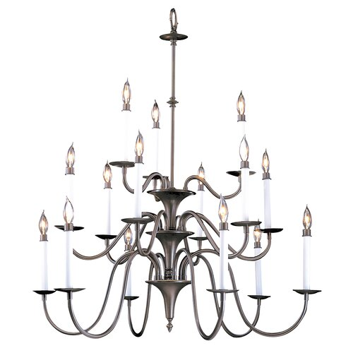 Framburg Early American 15 Light Foyer Chandelier