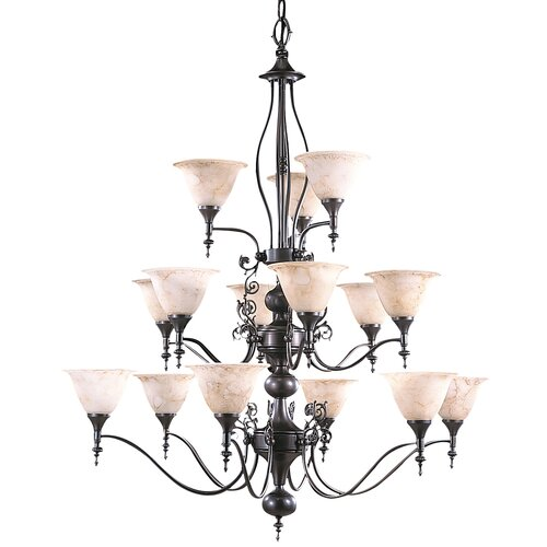Framburg Provence 15 Light Foyer Chandelier