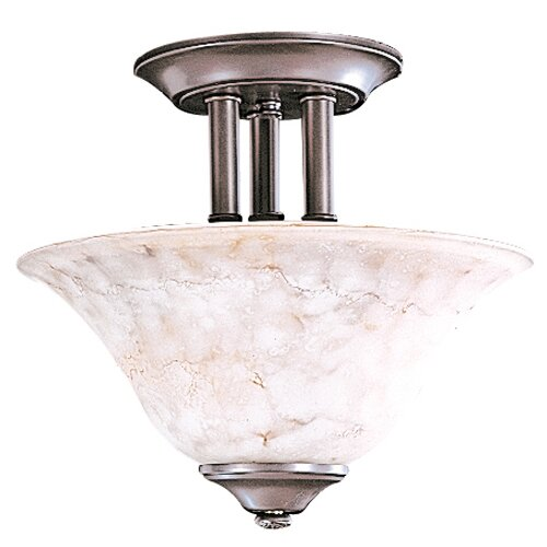 Framburg Black Forest 2 Light Semi Flush Mount