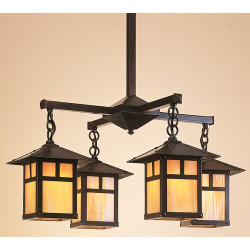 Arroyo Craftsman Evergreen 4 Light Chandelier
