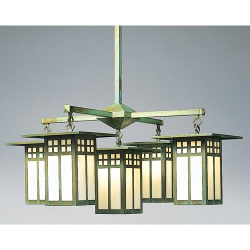Arroyo Craftsman Glasgow 5 Light Chandelier