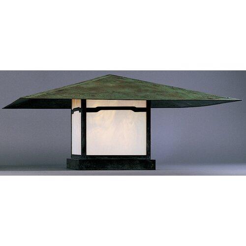 Arroyo Craftsman Monterey 1 Light Outdoor Post Lantern with Overlay