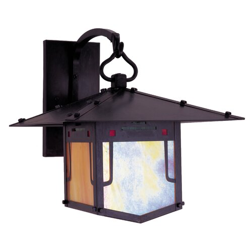 Arroyo Craftsman Pagoda 1 Light Outdoor Wall Lantern
