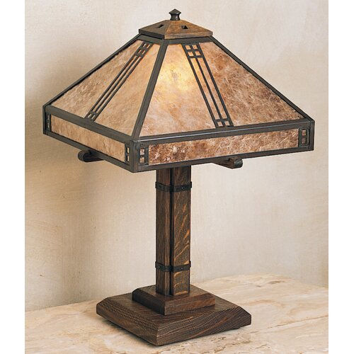 Arroyo Craftsman Prairie Table Lamp with Square Shade