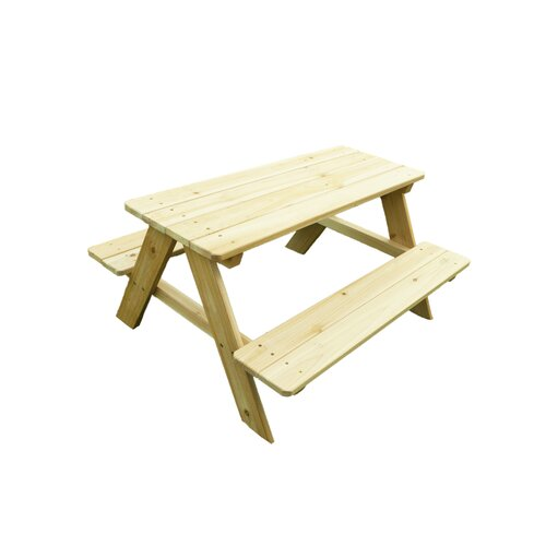 Kid's Wood Picnic Table