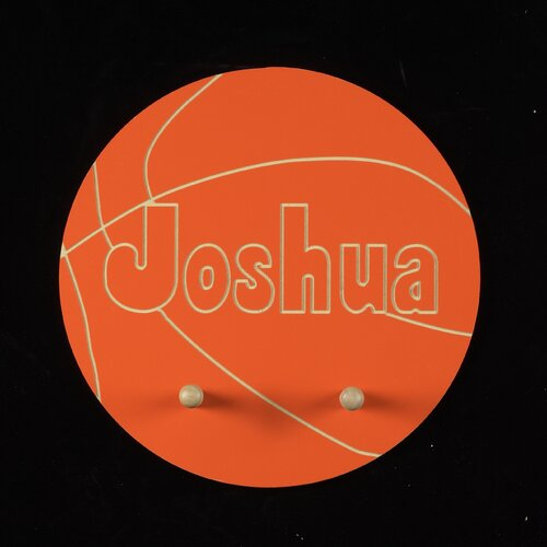 Personalized Basketball Pegged Wall Plaque