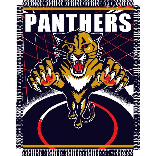 NHL Florida Panthers Triple Woven Jacquard Acrylic Throw
