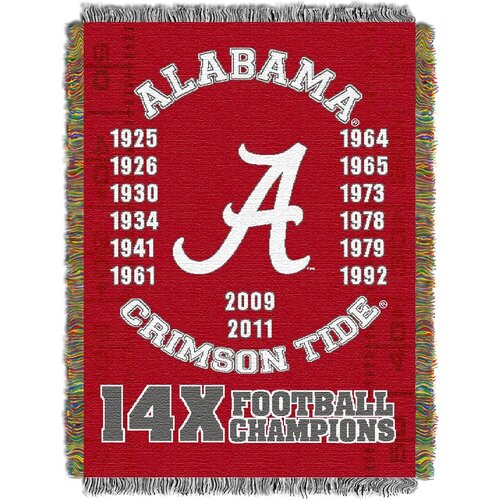 NCAA Commemorative Woven Throw Blanket