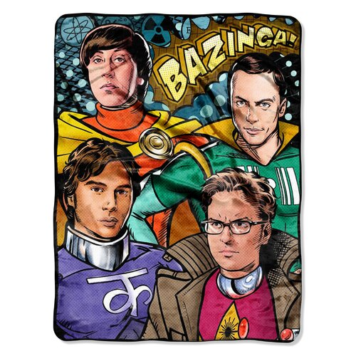 Northwest Co. Big Bang Theory Polyester Throw