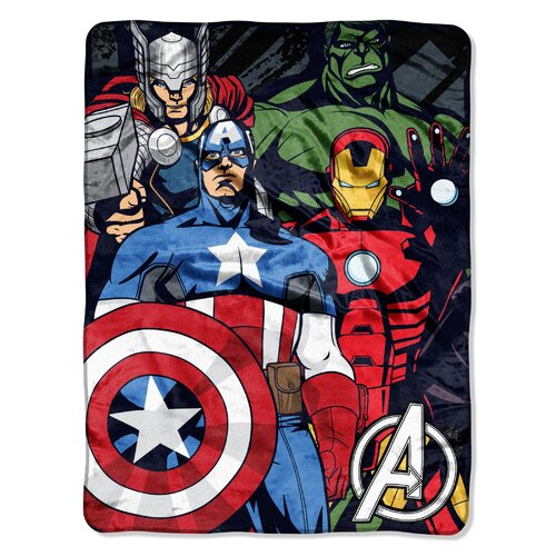 Northwest Co. The Avengers Micro Raschel Throw
