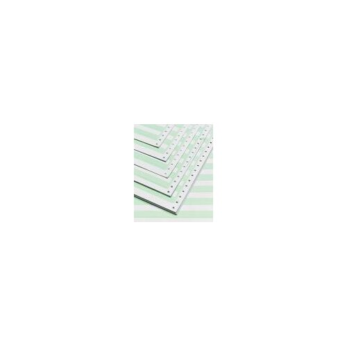 """TST Impreso 14.88"""" x 8.5"""" Computer Paper with 0.5"""" Green Bar (3500 Sheets)"""