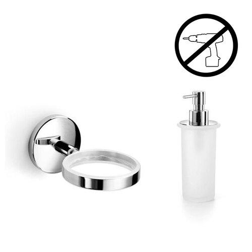 Spritz Self-Adhesive Holder with Soap Dispenser