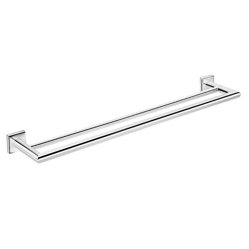 "WS Bath Collections Kubic Class 23.6"" Wall Mounted Double Towel Bar"