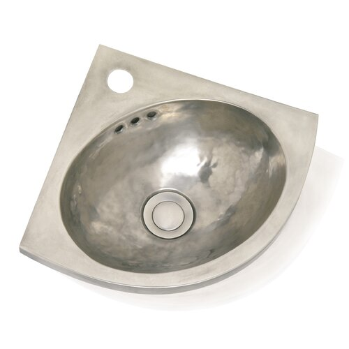WS Bath Collections Metal Corner Bathroom Sink