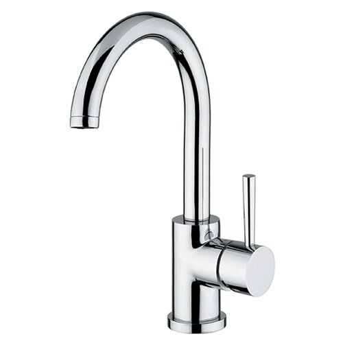WS Bath Collections Linea Single Hole Bathroom Faucet with Single Handle